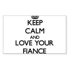 Keep Calm and Love your Fiance Decal