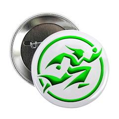 'Running Wizard' Button (3D, green on white)
