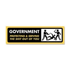 Government Protecting and Serving Car Magnet 10 x