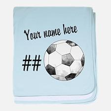 Soccer Art baby blanket