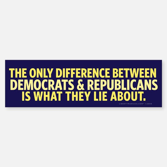 The Only Difference Bumper Bumper Bumper Sticker