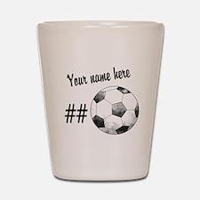 Soccer Art Shot Glass