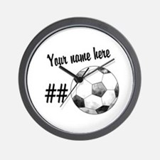 Soccer Art Wall Clock
