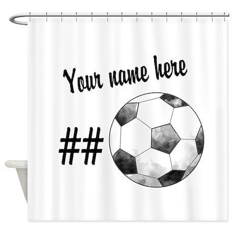 Soccer Art Shower Curtain