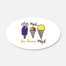 Ice Cream Helps Oval Car Magnet
