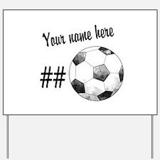 Soccer Art Yard Sign