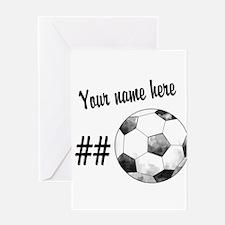 Soccer Art Greeting Cards