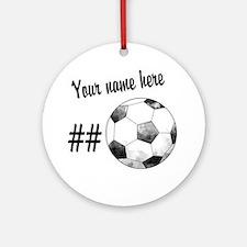 Soccer Art Ornament (Round)