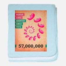 Fifty Seven Million Abortions baby blanket