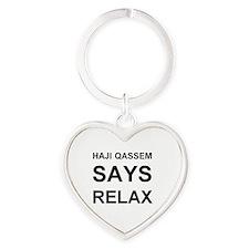 HAJIQASSEM1 Heart Keychain
