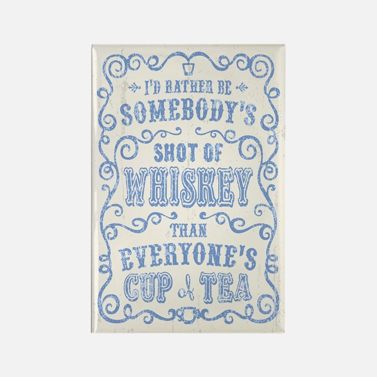 Cup of Whiskey Rectangle Magnet