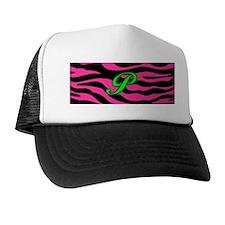 HOT PINK ZEBRA GREEN P Hat
