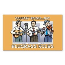 Rectangle Sticker: Bluegrass rules