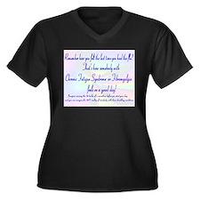 24/7 Flu Women's Plus Size V-Neck Dark T-Shirt