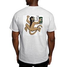 Coffee Monkey Ash Grey T-Shirt