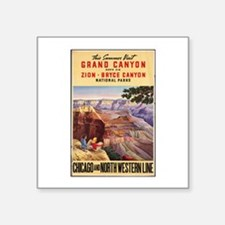 "Cute Grand canyon picture Square Sticker 3"" x 3"""