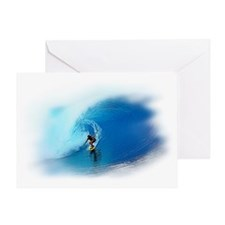 Big Wave Rider Greeting Card