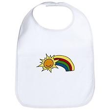 Sun And Rainbow Bib