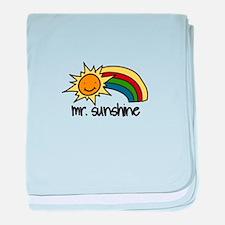 Mr Sunshine baby blanket