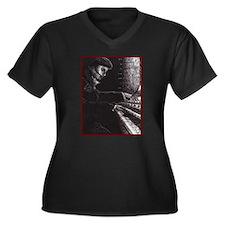 'Requiem' ~ Women's Plus Size V-Neck Dark T-Shirt