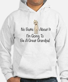 No Butts Great Grandpa To Be Hoodie