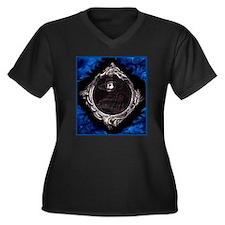 Phantom (Blue) ~ Women's Plus Size V-Neck Dark T-S