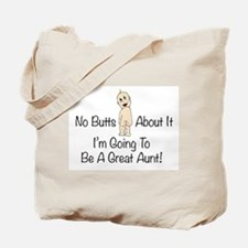 Baby Butt Great Aunt To Be Tote Bag