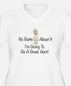 Baby Butt Great Aunt To Be Plus Size T-Shirt
