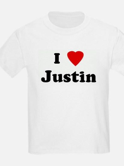 I Love Justin T-Shirt