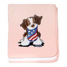 Patriotic Brittany baby blanket