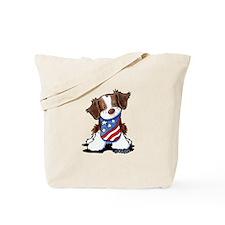 Patriotic Brittany Tote Bag