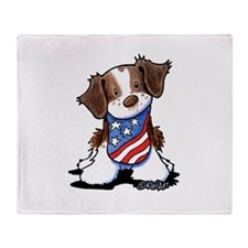 Patriotic Brittany Throw Blanket