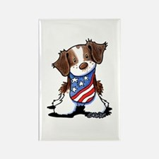 Patriotic Brittany Rectangle Magnet (100 pack)