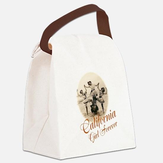 California Girl Forever Canvas Lunch Bag
