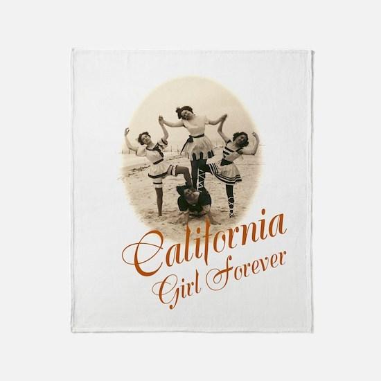 California Girl Forever Throw Blanket
