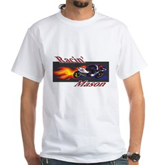 Racin' Mason Bikers White T-Shirt