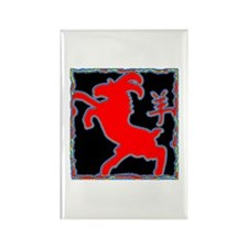 Year of The Goat Sheep Abstract Rectangle Magnet