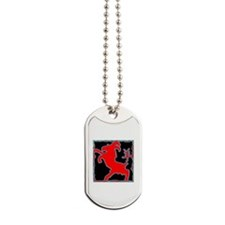 Year of The Goat Sheep Abstract Dog Tags