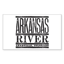 River Running Rectangle Stickers