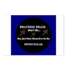 Phantom Phans don't die ~ Postcards (Package of 8)