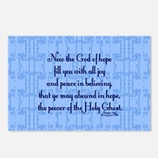 Romans 15:13 Scripture Postcards (Package of 8)