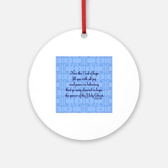 Romans 15:13 Scripture Ornament (Round)