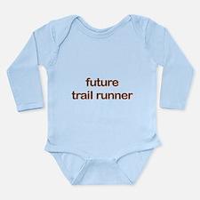 Future Trailrun Orange Long Sleeve Infant Bodysuit