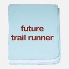 Future Trailrun Orange baby blanket