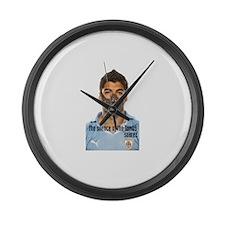 Cute Luis Large Wall Clock
