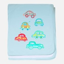 Hand-made Traffic jam baby blanket
