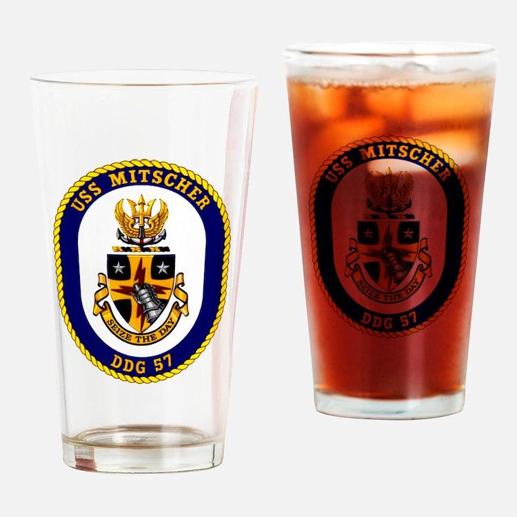 DDG-57 USS Mitscher Drinking Glass