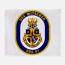 DDG-57 USS Mitscher Throw Blanket