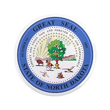 "North Dakota Seal 3.5"" Button"