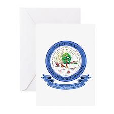 North Dakota Seal Greeting Cards